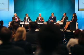 Panel: Günther Steger, Joachim Widder, Christian Singer, Daniel Egle, Florian Fitzal und Marija Balic (v.l.n.r).