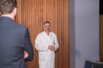 Auch Vorsitzender und Moderator Christian Marth beteiligte sich an der Diskussion.