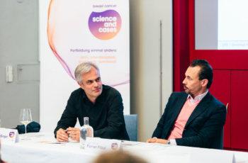 Nach dem Vortrag gab es noch einige brennende Fragen: Christian Singer und Florian Fitzal.