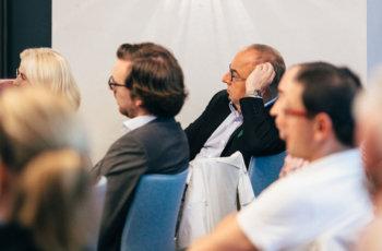 Auch Michael Gnant war im Publikum und konnte seine Aufmerksamkeit endlich wieder auf fachliche Problemstellungen richten.