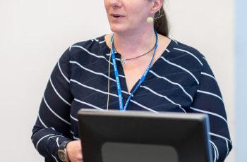 Ellen Heitzer sprach über mögliche Informationen, die Flüssigbiopsien über das Ansprechen neoadjuvanter Therapien liefern können.