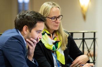 Karin Zehetner und Dominik Hlauschek (ABCSG Team).