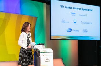 Marija Balic begrüßt die TeilnehmerInnen und dankt den treuen Sponsoren.