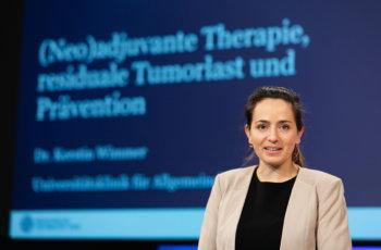 Den Abschluss bildete der Vortrag von Kerstin Wimmer über neoadjuvante Chemotherapie, residuale Tumorlast und Prävention.