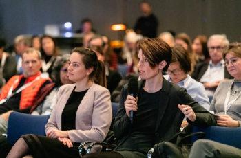 Sie diskutierten gemeinsam mit den Vortragenden und Kolleginnen und Kollegen aus dem Publikum die brennendsten Fragen zu den Präsentationen.