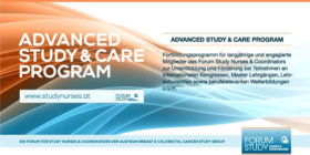 Advanced Study & Care Program des Forum Study Nurses and Coordinators